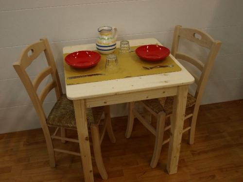 Market del legno tavolo toscana h77 con piano e - Tavoli per cucine piccole ...