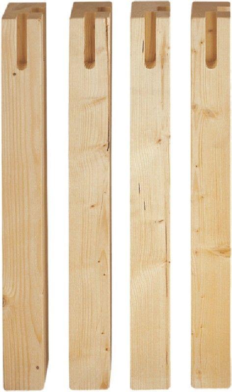Market del Legno: Gambe tavolo cm.6x6 H75 legno di abete Set 4 pezzi