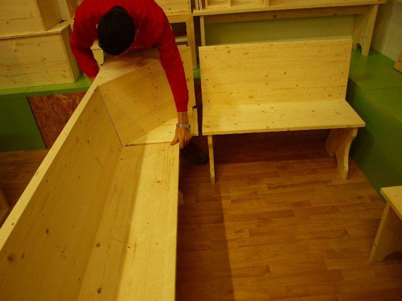 Market del legno panca angolare per giro panca - Come far impazzire un ragazzo a letto ...