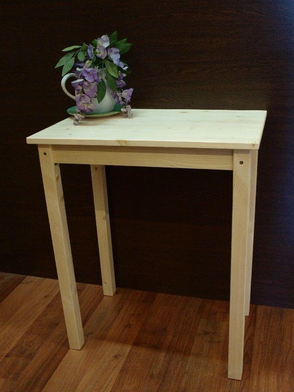 Market del legno tavolino di servizio 60x40 h 75 in abete for Tavolo 40x40