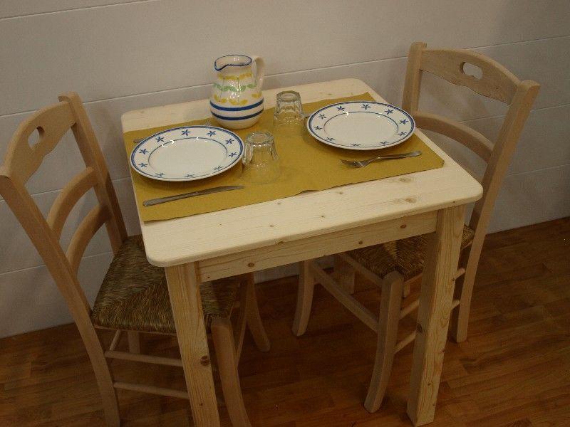 Market del legno: tavolo toscana cm.80x80 h77 con piano e angoli ...