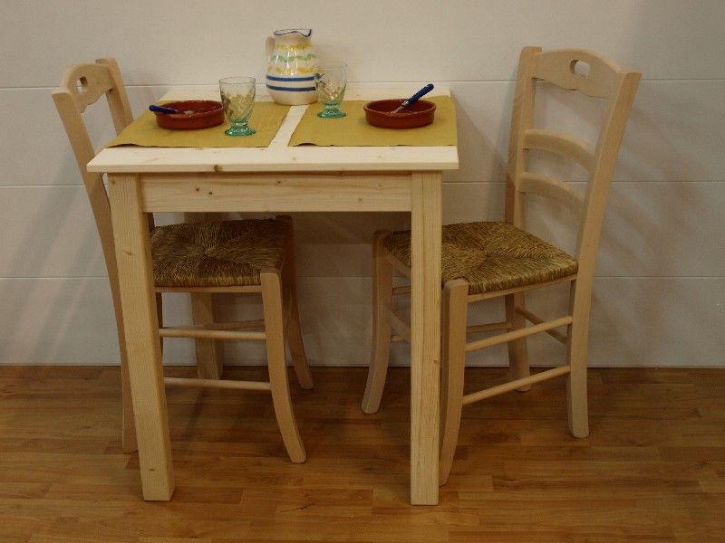 Market del legno tavolo toscana h77 con piano e for Tavolo cucina 60 x 100