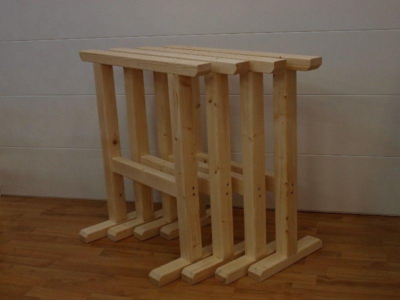Market del Legno: Cavalletto Extra Strong 75x75 in legno di abete conf.da 4 p...