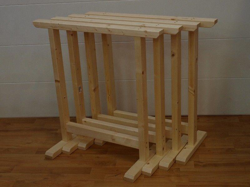 Market del Legno: Cavalletto Super 75X75 in legno di abete conf.4 ...