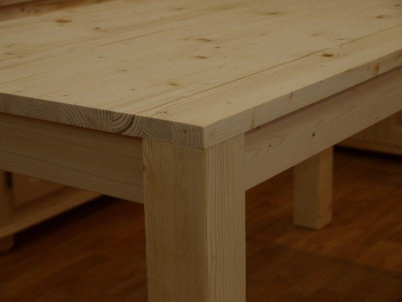 Market del legno conf 10 tavolo h77 5 con piano in abete massello di 27 m m - Tavoli in legno grezzo ...
