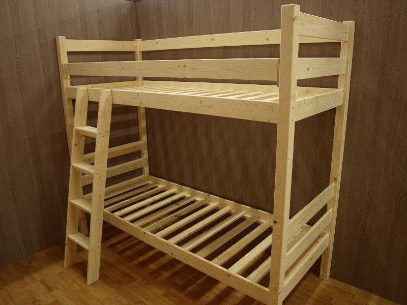 Market del legno letto a castello vittorio in abete grezzo realizzabile su misura - Letto a castello legno ikea ...