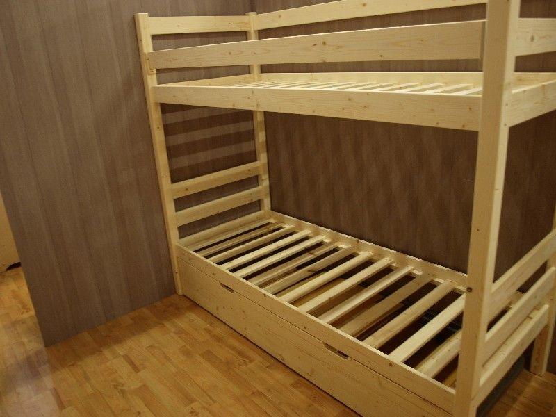 Market del legno letto a castello vittorio in abete grezzo realizzabile su misura - Reti letto su misura ...