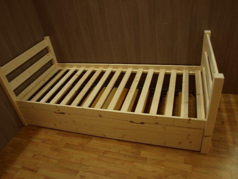 Market del legno letto singolo vittorio in legno di abete for Letti vendita on line