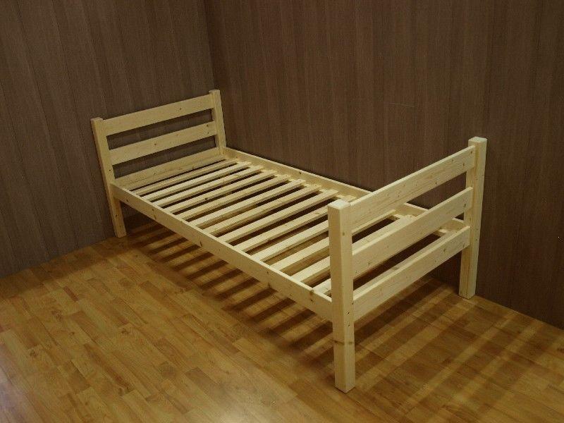 Letti In Legno Grezzo : Market del legno letto singolo vittorio in legno di abete grezzo