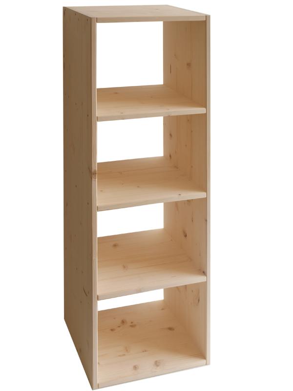 Market del legno libreria eco in abete 18 mm h120 - Mobiletti in legno ...