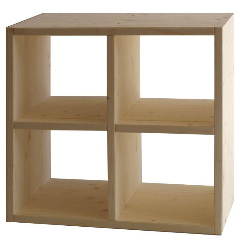 Market del legno cubo eco a croce for Cubi in legno per arredare