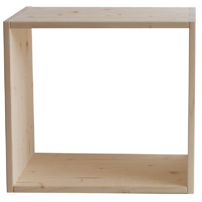 Market del legno cubo eco vuoto for Cubi in legno per arredare