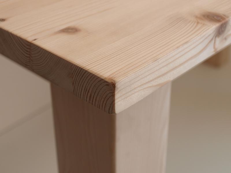 Market del legno tavolo toscana in legno massello grezzo for Piano per tavolo legno grezzo