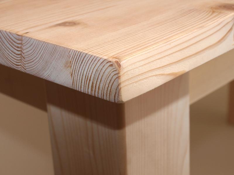 Market del legno tavolo taverna h 77 5 con piano squadrato 27 mm - Tavoli in legno grezzo ...
