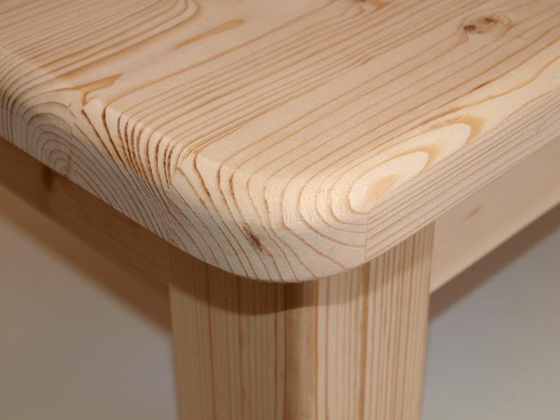 Market del legno tavolo taverna cm140x75 h77 5 con piano e angoli stondati - Tavole legno massello grezzo ...