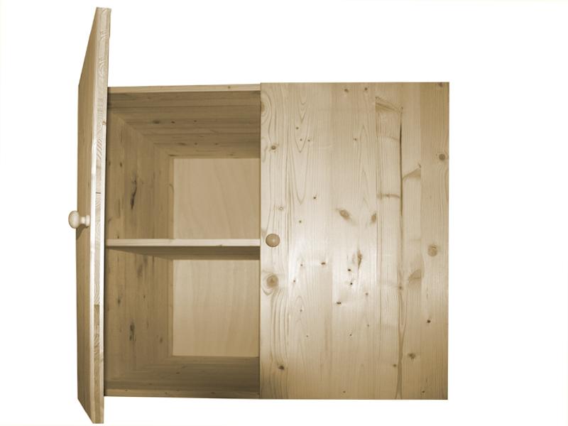 Market del legno mobile in legno di abete 18 mm sopralzo - Cucine in legno grezzo ...