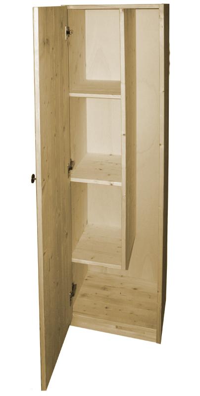 Market del legno porta scope in legno h 155 - Mobile portascope ...