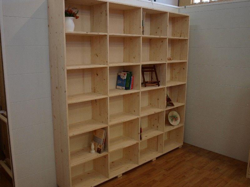 Market del Legno: Libreria Wall grezza della serie Lori abete 18 mm