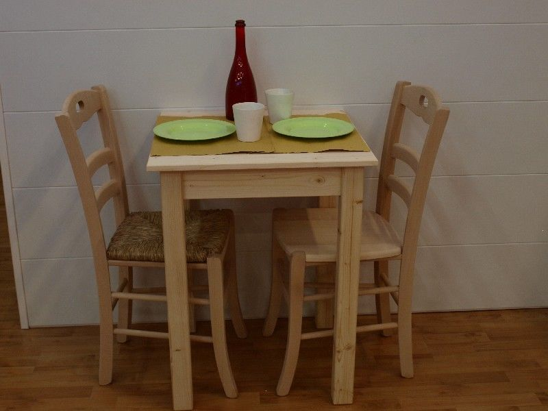 Market del legno tavolo toscana 60x60 h 77 con piano for Piano per tavolo legno grezzo