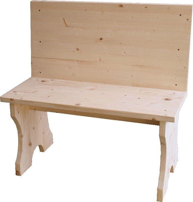 Market del legno panca con spalliera h 45 82 1 - Panche in legno per interni ...