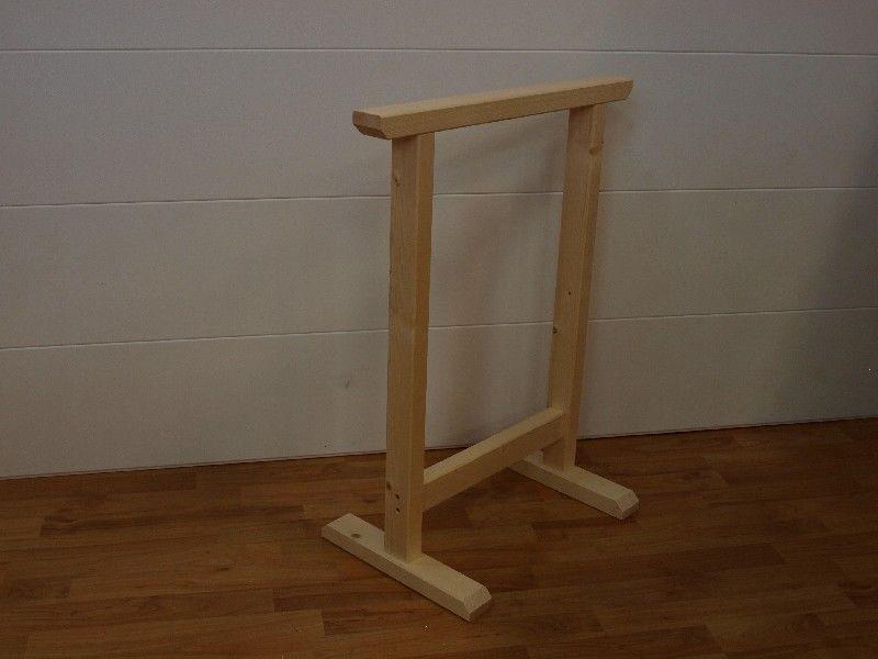 Market del legno cavalletto super 60 abete 60 cm h 75 - Cavalletti in legno per tavoli ...