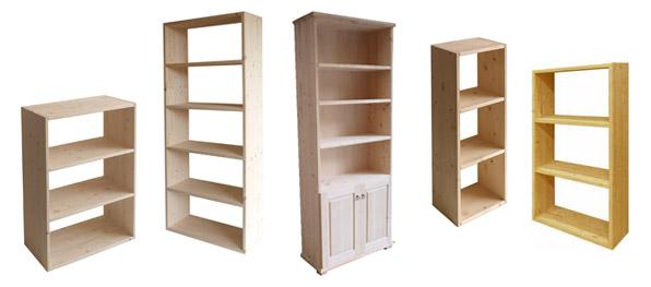 Libreria in legno grezzo terminali antivento per stufe a for Scaffali in legno grezzo